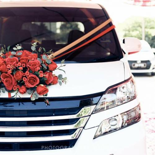 Bridal Car Decoration & Bridal Bouquet